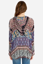 Johnny Was Karma Burnout Aztec Hoodie - Front full body