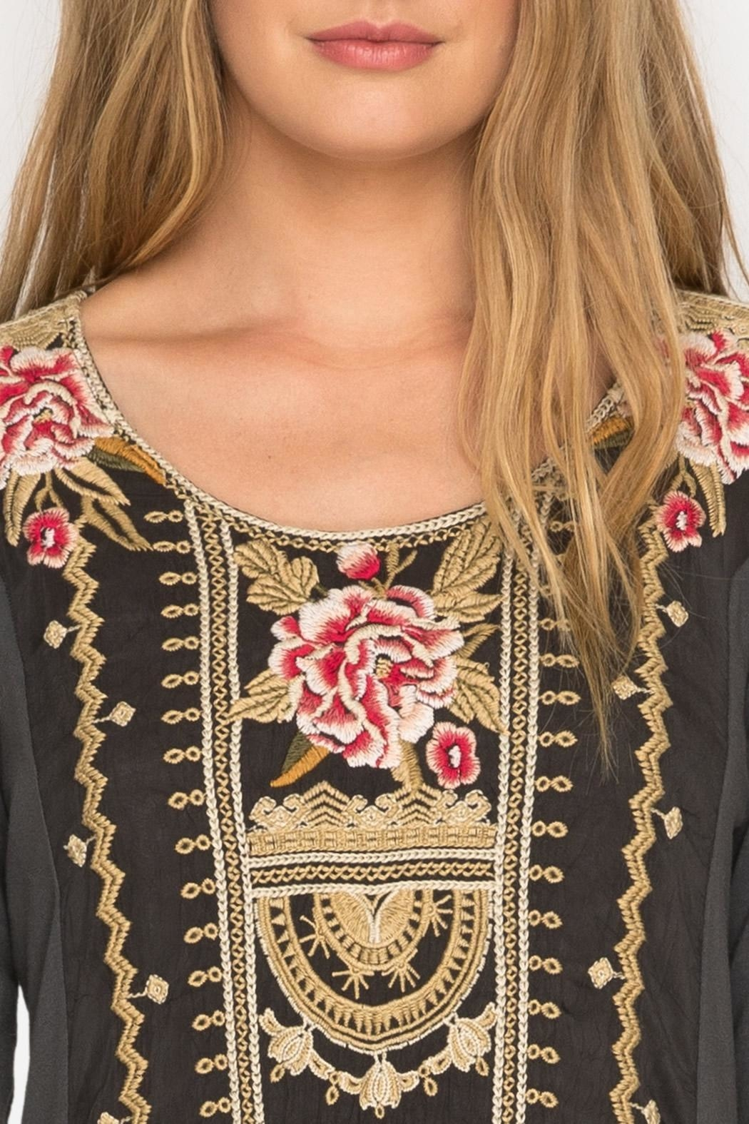 Johnny Was Leith  Embroidery Tunic - Front Full Image
