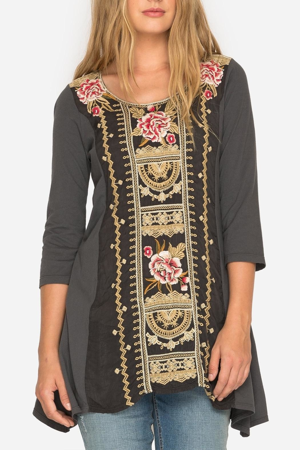 Johnny Was Leith  Embroidery Tunic - Main Image