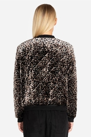 Johnny Was Leopard Bomber Jacket - Front full body