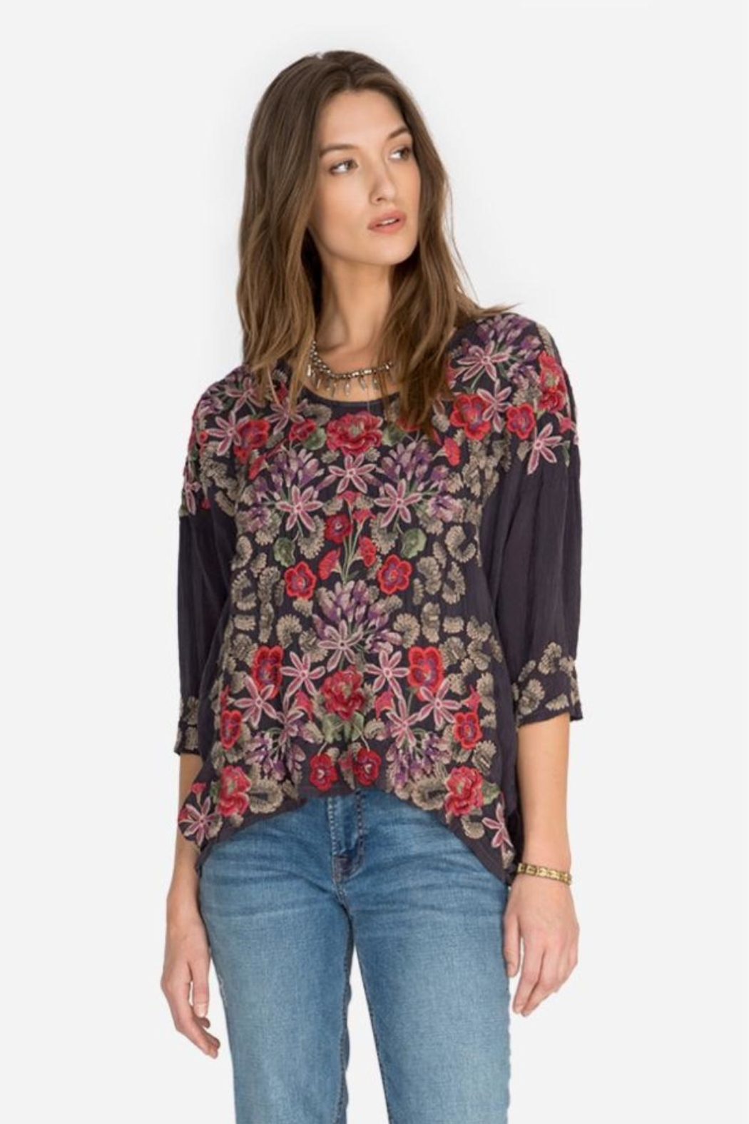 Johnny Was Leopard Rose Blouse - Main Image