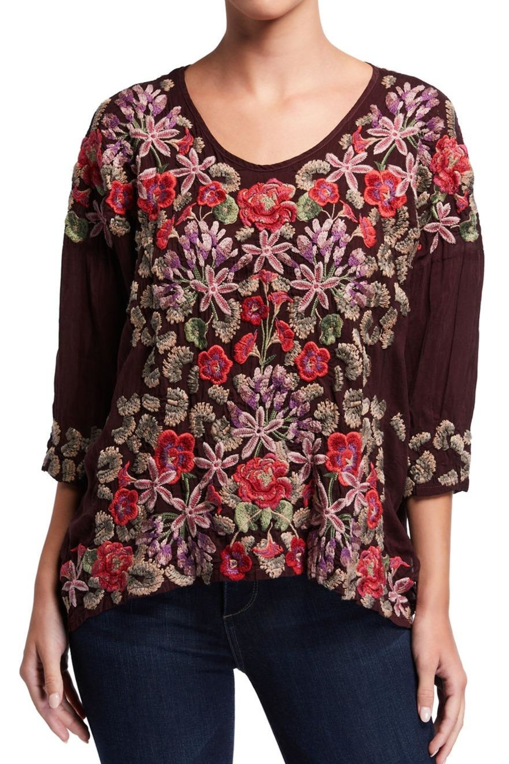 Johnny Was Leopard Rose Top - Main Image