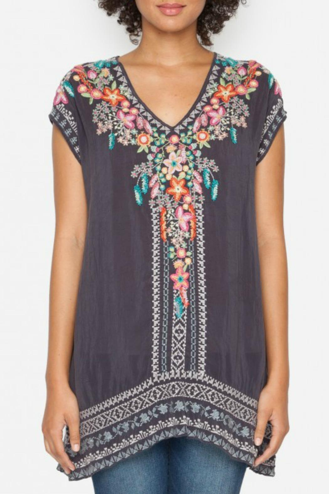 Johnny Was Letty Embroidered Tunic - Front Cropped Image