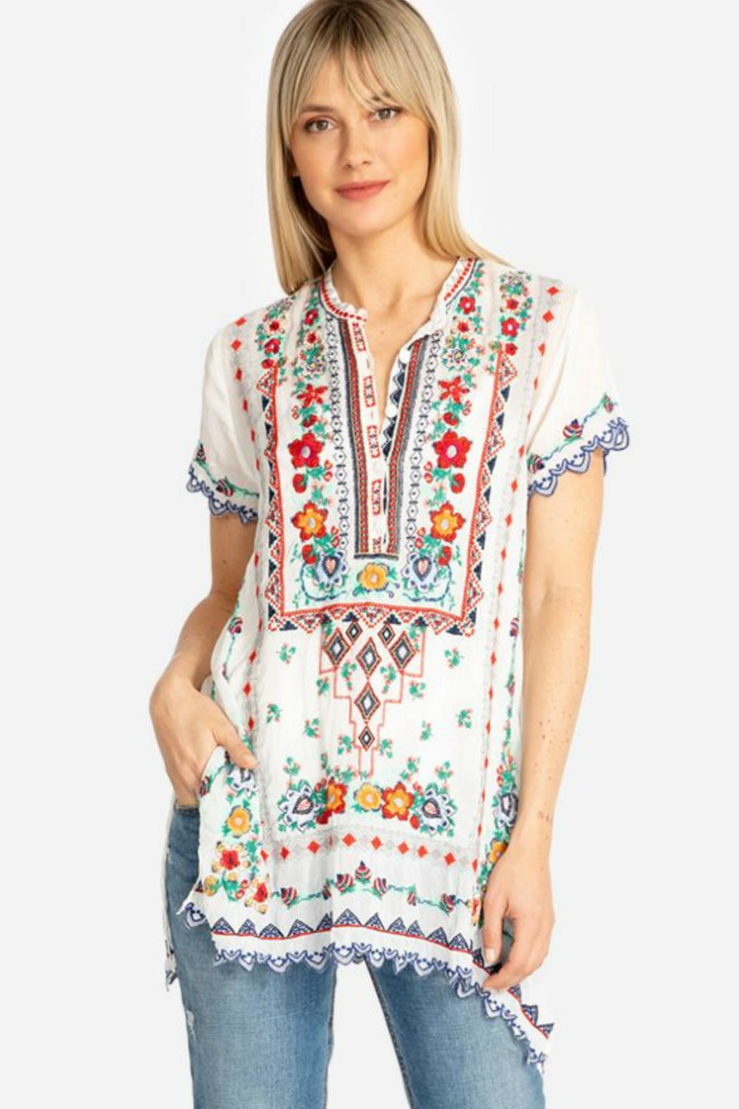 Johnny Was Liesse Tunic - Front Cropped Image