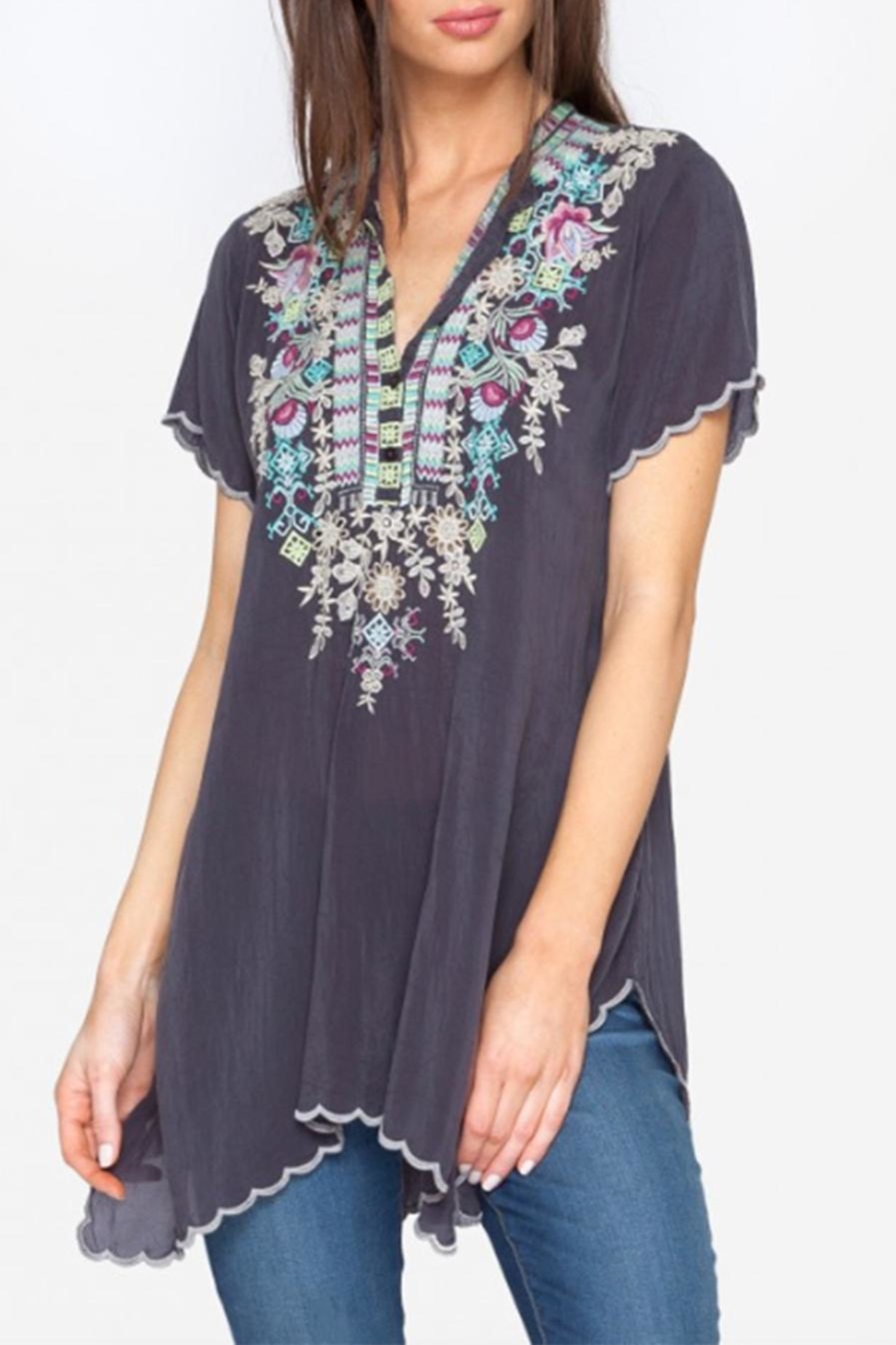 Johnny Was Livana Tunic Top - Side Cropped Image