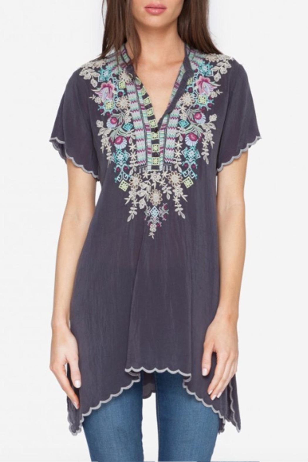 Johnny Was Livana Tunic Top - Front Cropped Image