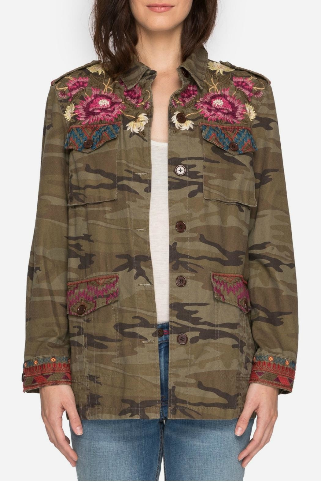 Johnny Was Military Camo Jacket - Front Full Image