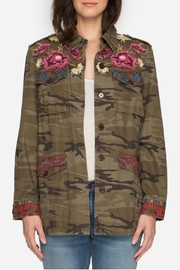 Johnny Was Military Camo Jacket - Front full body