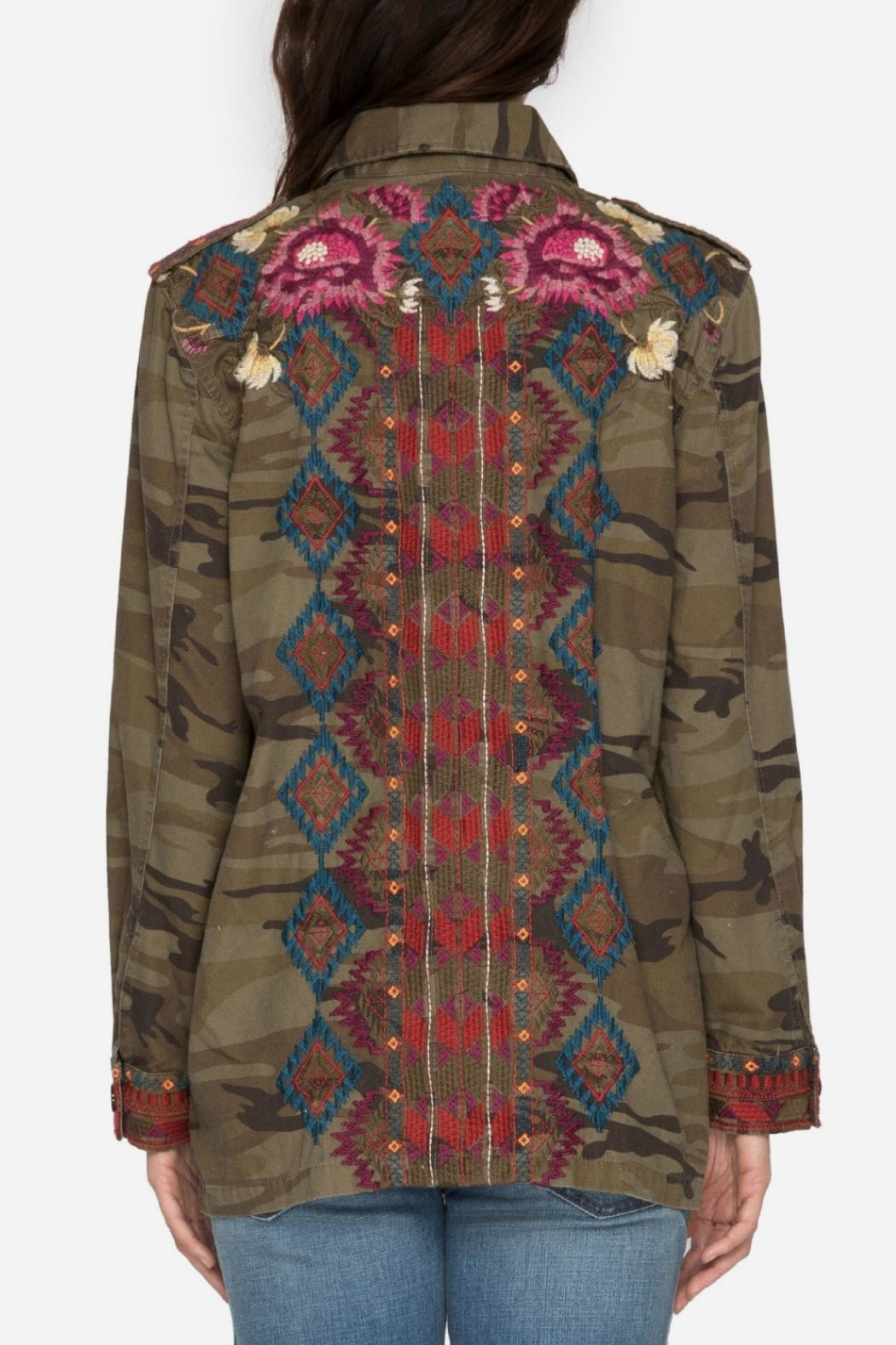 Johnny Was Military Camo Jacket - Side Cropped Image