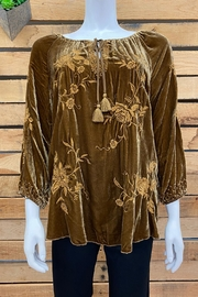 1920s Style Blouses, Shirts, Sweaters, Cardigans Millie Velvet Blouse $240.00 AT vintagedancer.com