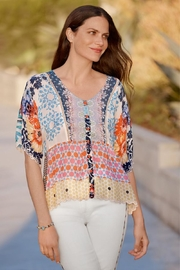Johnny Was Mix Print Top - Product Mini Image
