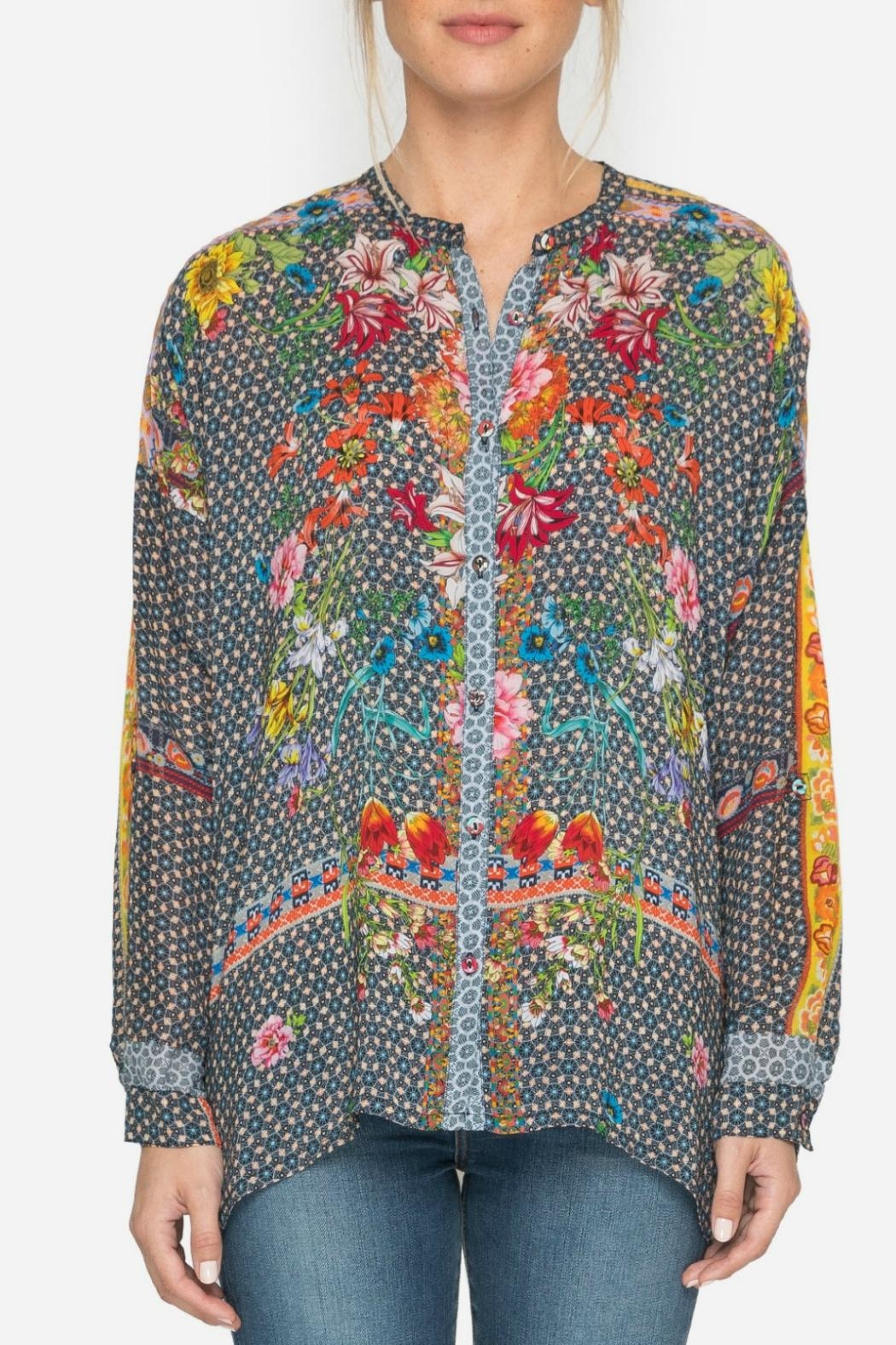 Johnny Was Multi Mishka Blouse - Side Cropped Image
