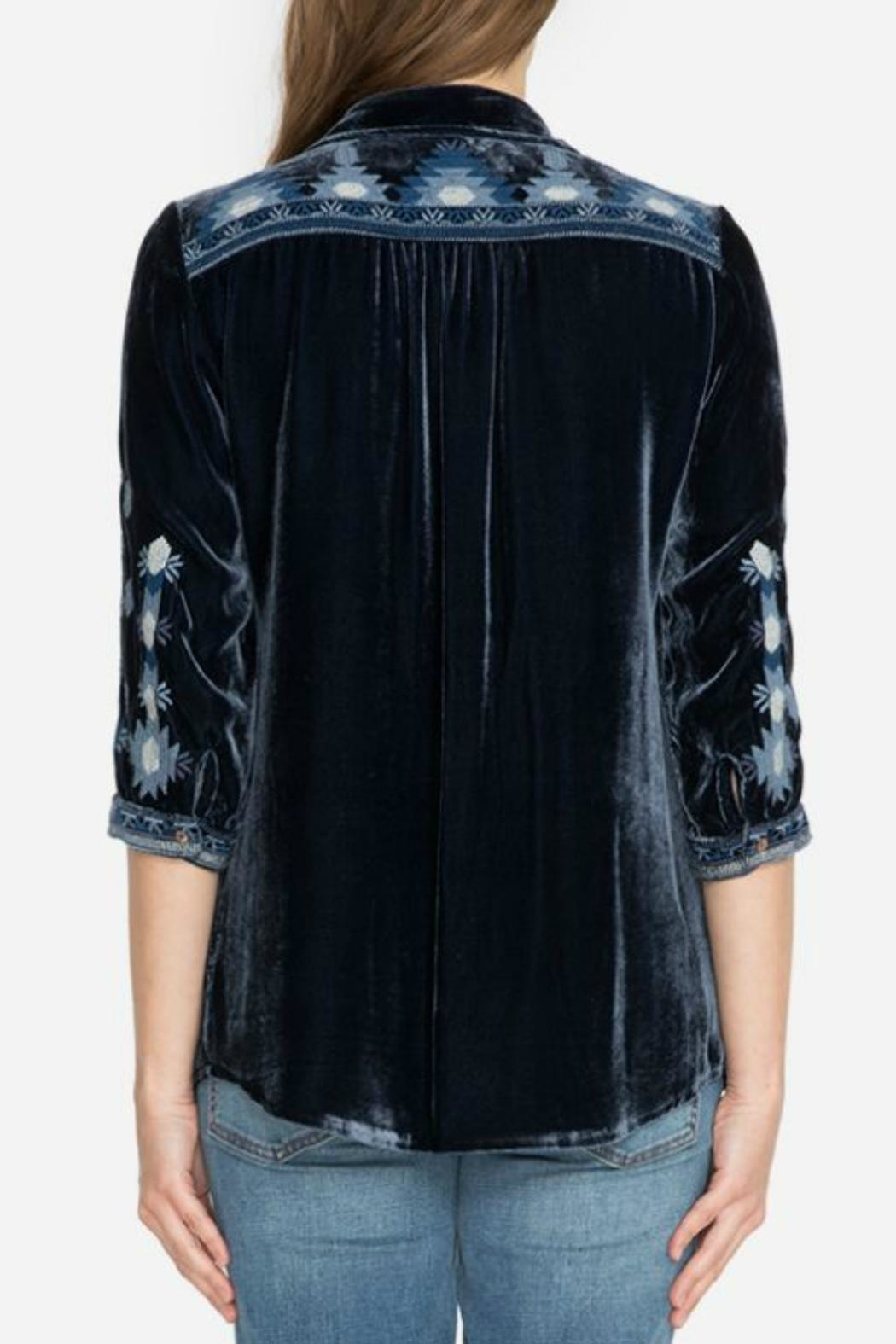 Johnny Was Nomi Velvet Top from Austin by Trends ...