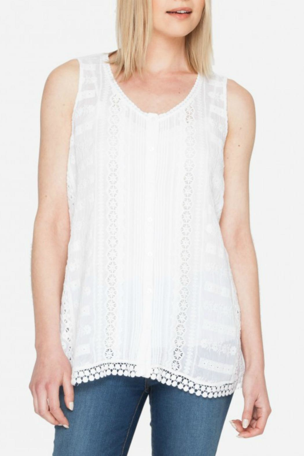 Johnny Was Nye Tank Top - Front Cropped Image