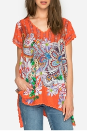 Johnny Was Orange Linko Top - Front cropped