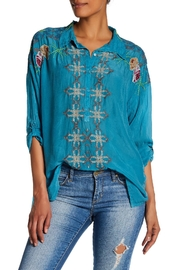Johnny Was Oversized Collared Blouse - Front cropped