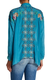 Johnny Was Oversized Collared Blouse - Front full body