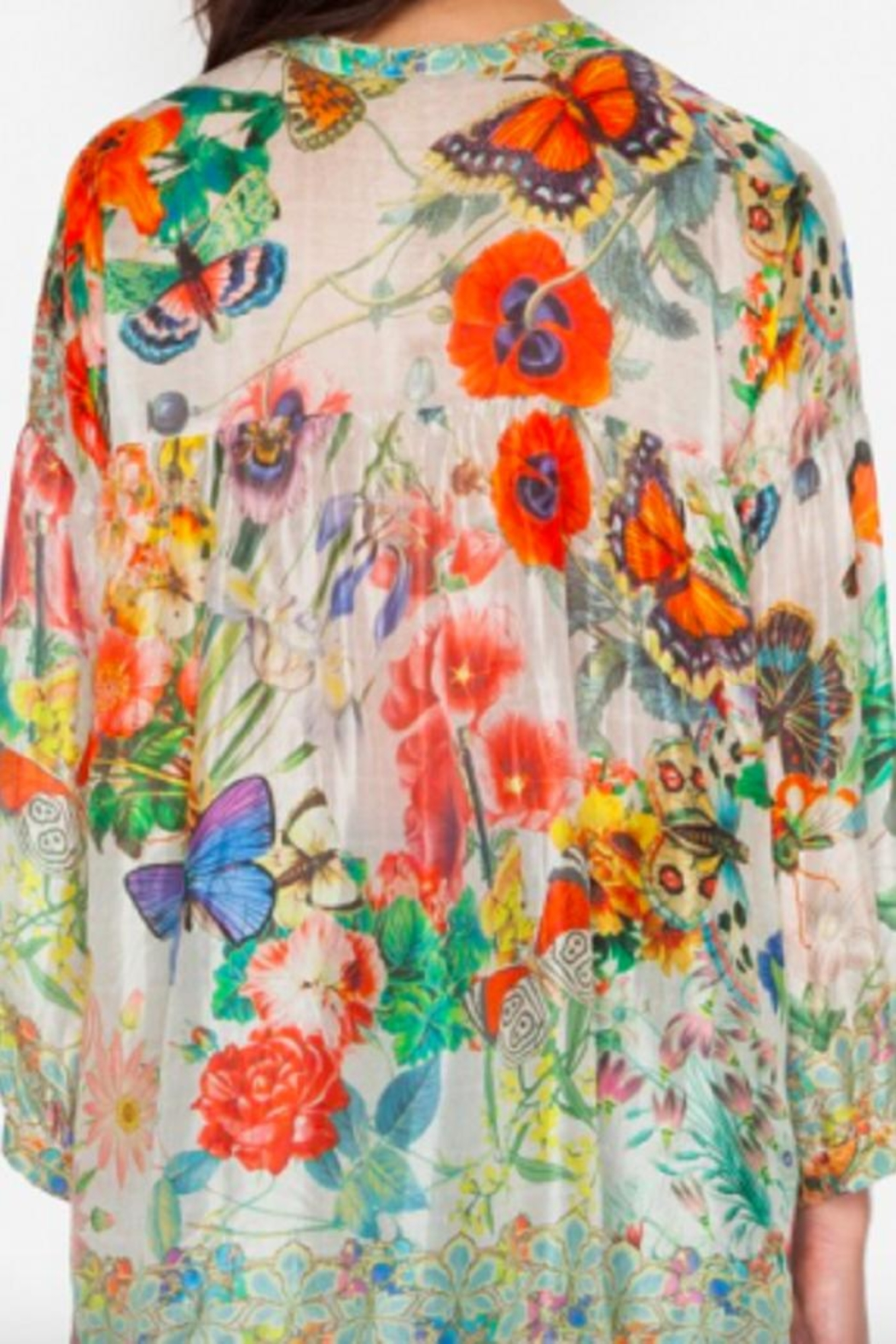 Johnny Was Passion Flower Top - Front Full Image