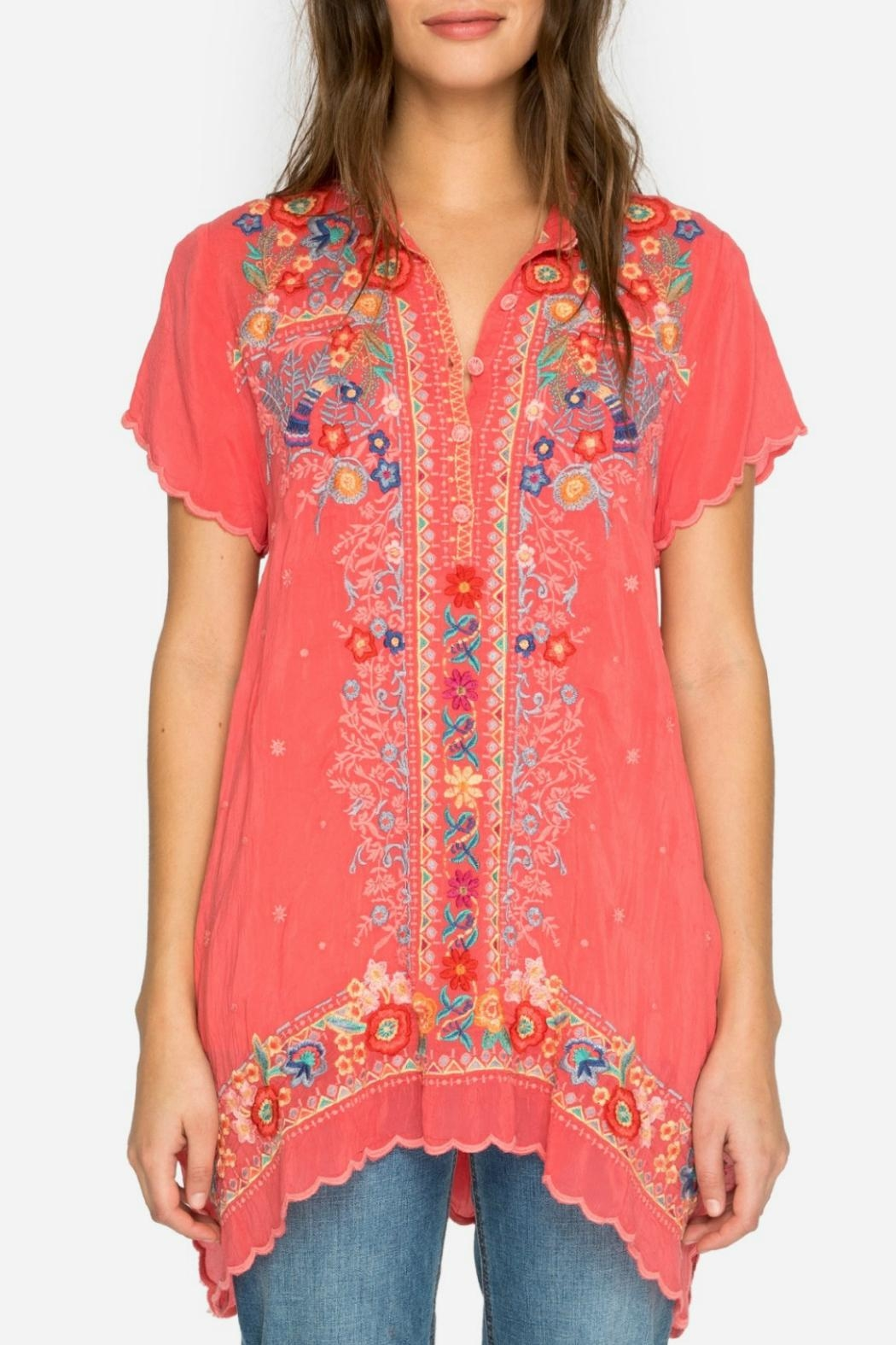 Johnny Was Passion Fruit Tunic - Front Full Image