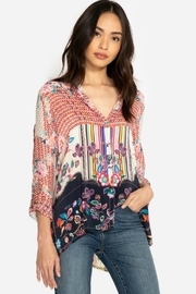 Johnny Was Patchwork Print Blouse - Product Mini Image