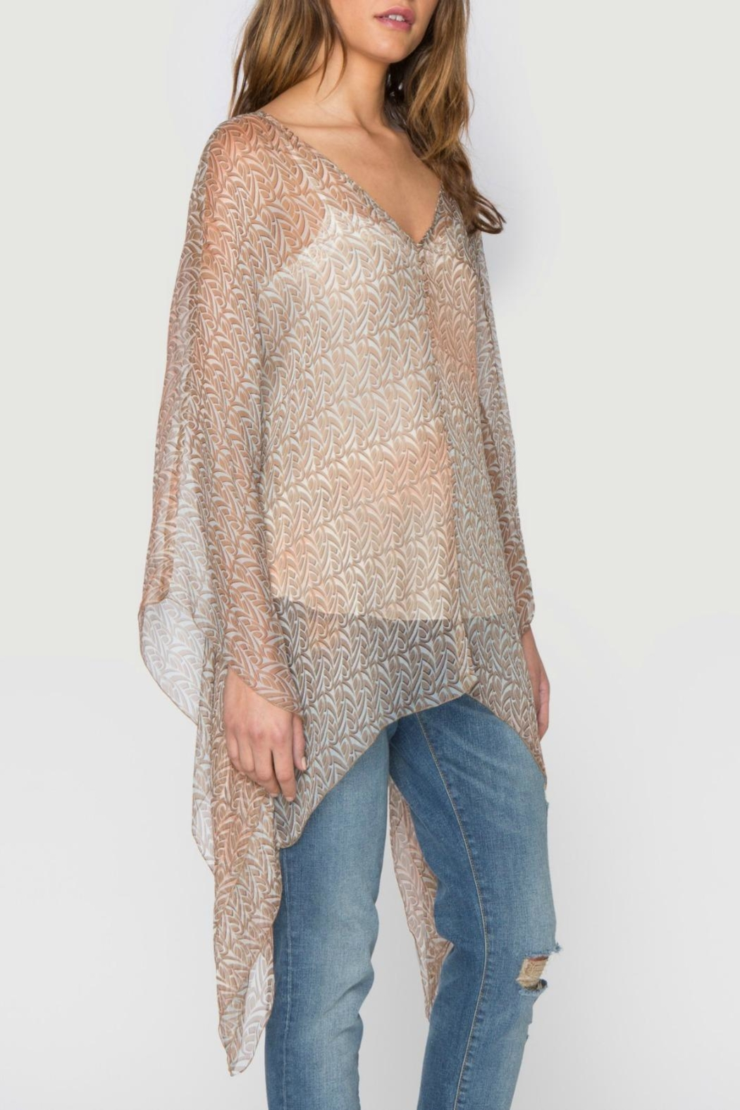 Johnny Was Paz Print Poncho - Front Full Image