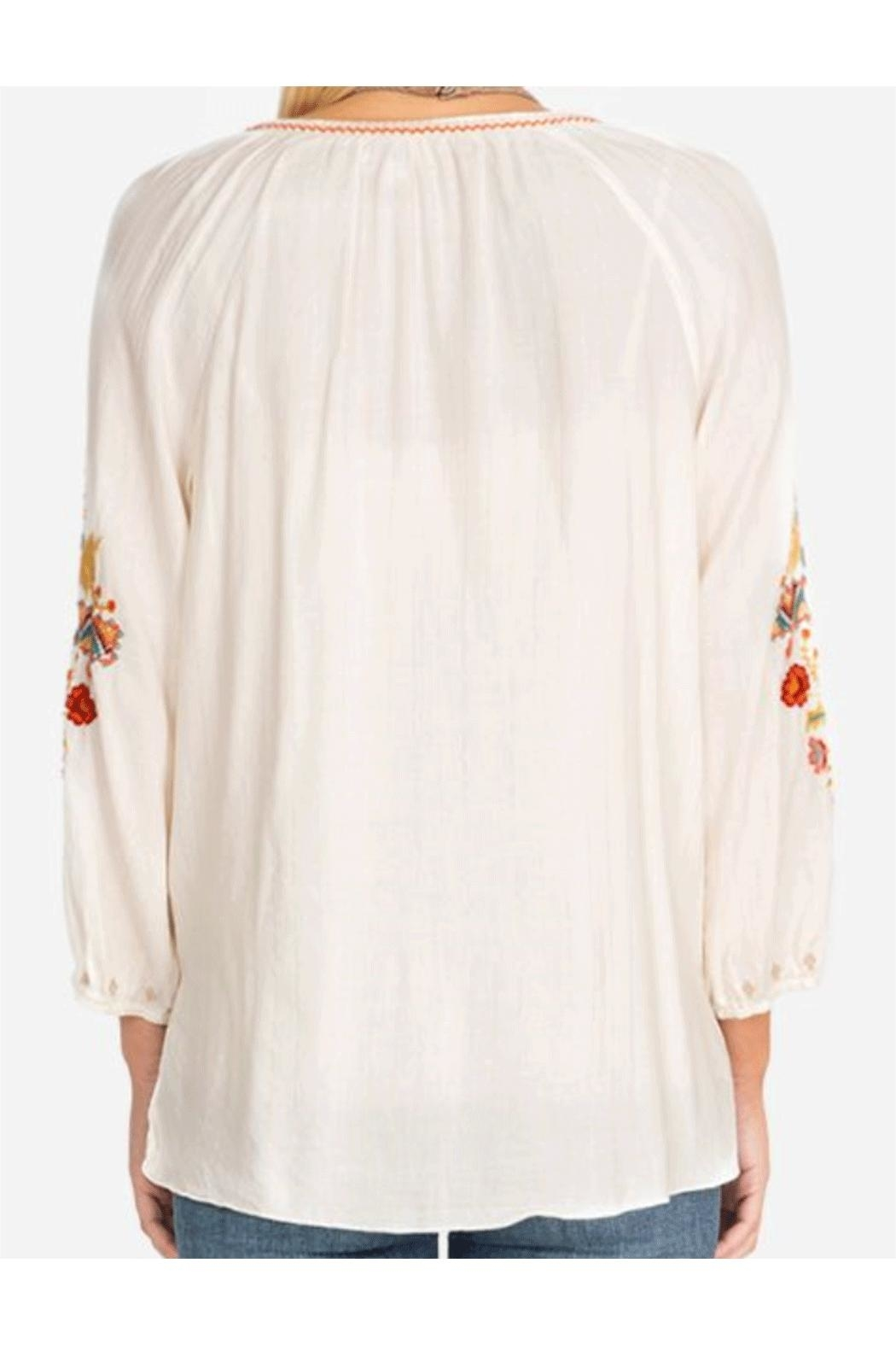 Johnny Was Peasant Blouse - Side Cropped Image