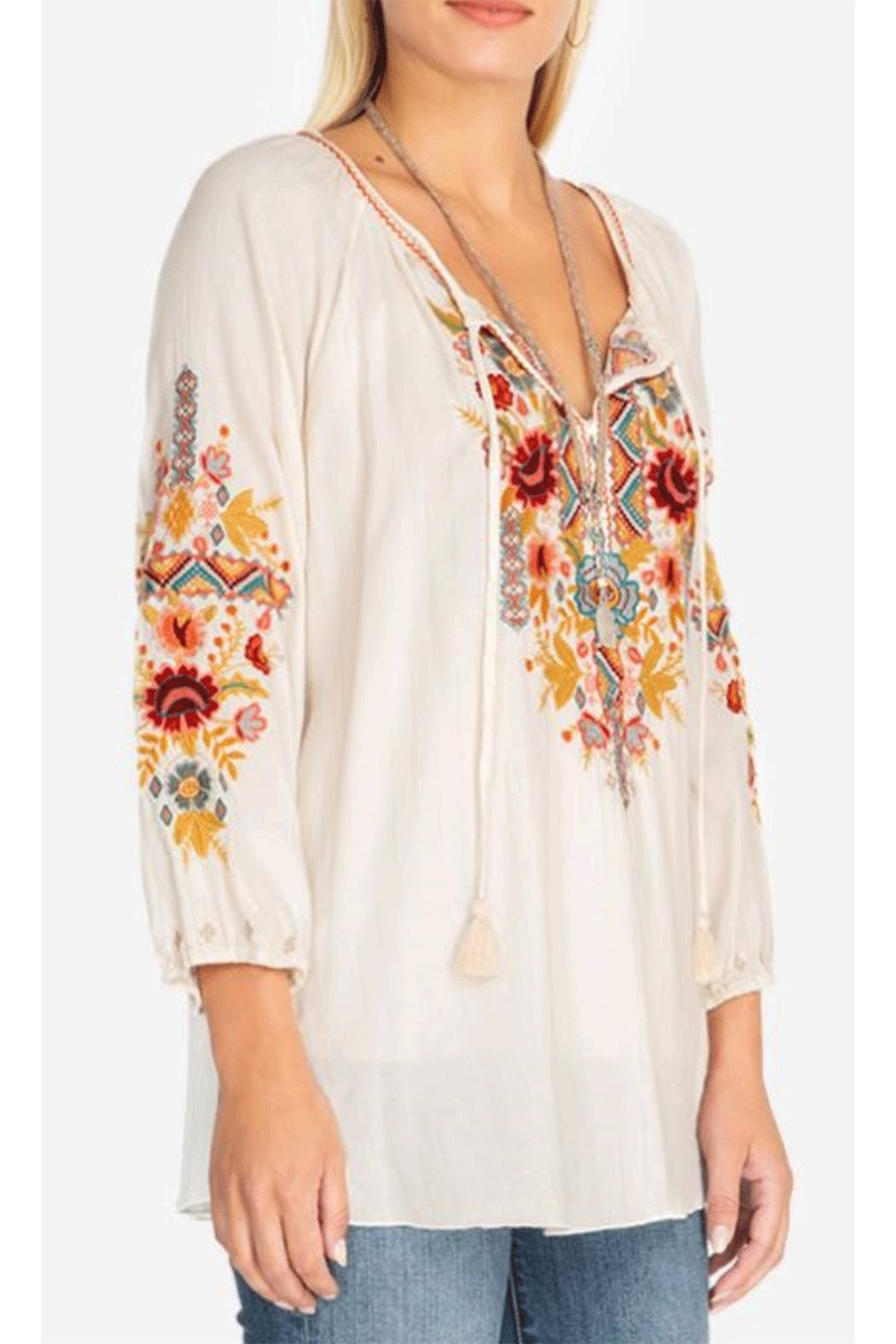 Johnny Was Peasant Blouse - Front Full Image