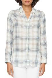 Johnny Was Plaid Embroidered Shirt - Product Mini Image