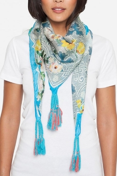 Johnny Was Plaid Patch Silk Scarf - Product List Image