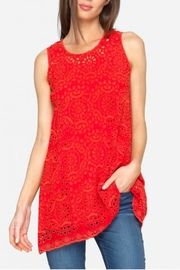 Johnny Was Racer Red Tunic - Product Mini Image