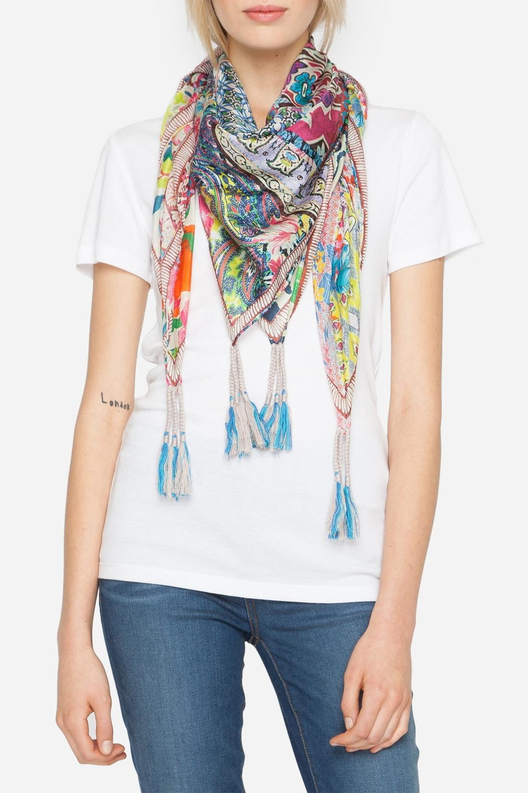 Johnny Was Revine Silk Scarf - Front Full Image