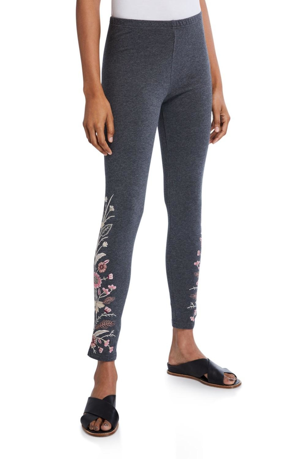 Johnny Was Rosa Embroidered Legging - Side Cropped Image