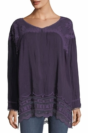 Johnny Was Rose Eyelet Top - Front cropped