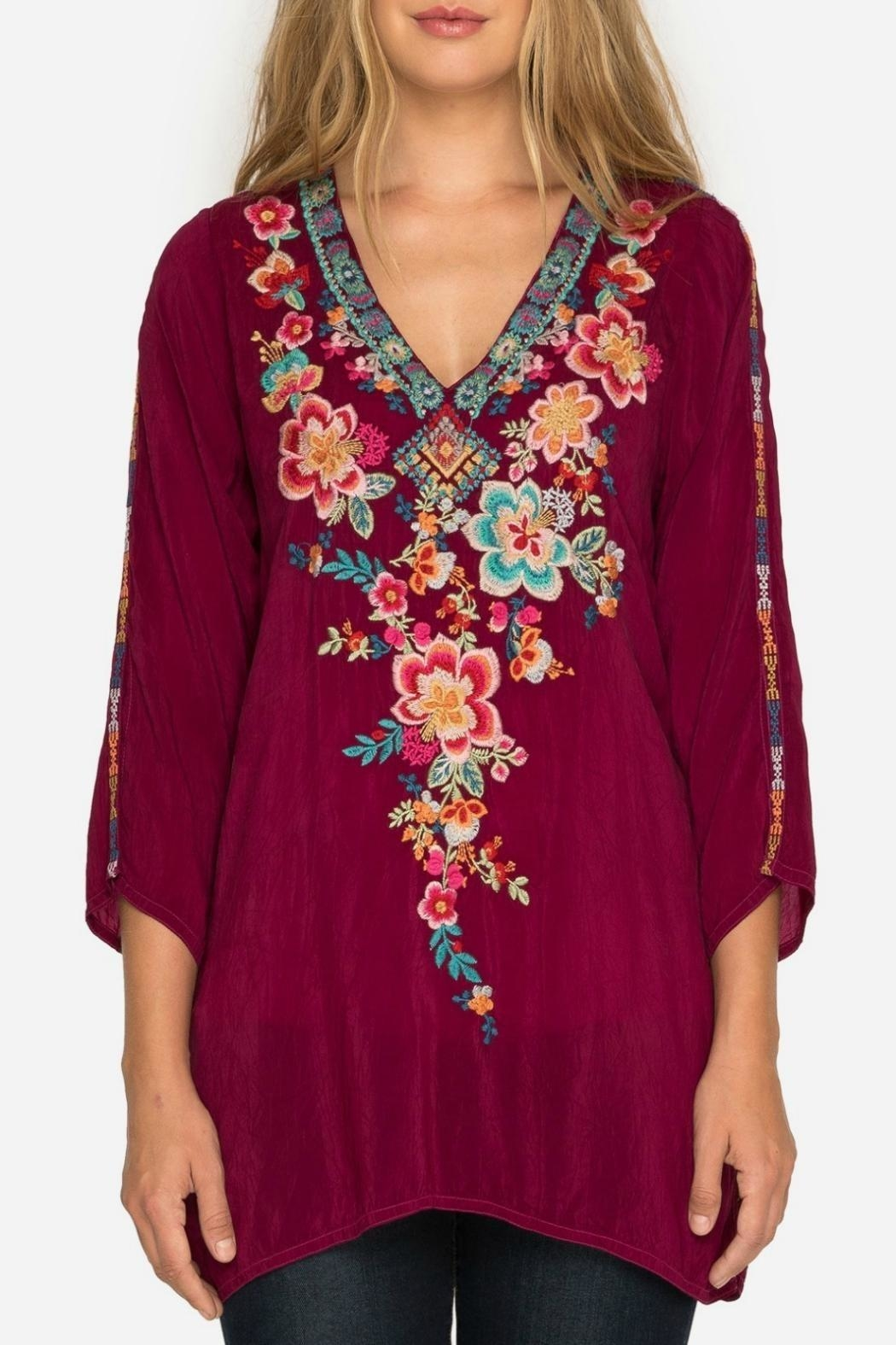 Johnny Was Rose Roma Tunic - Front Cropped Image