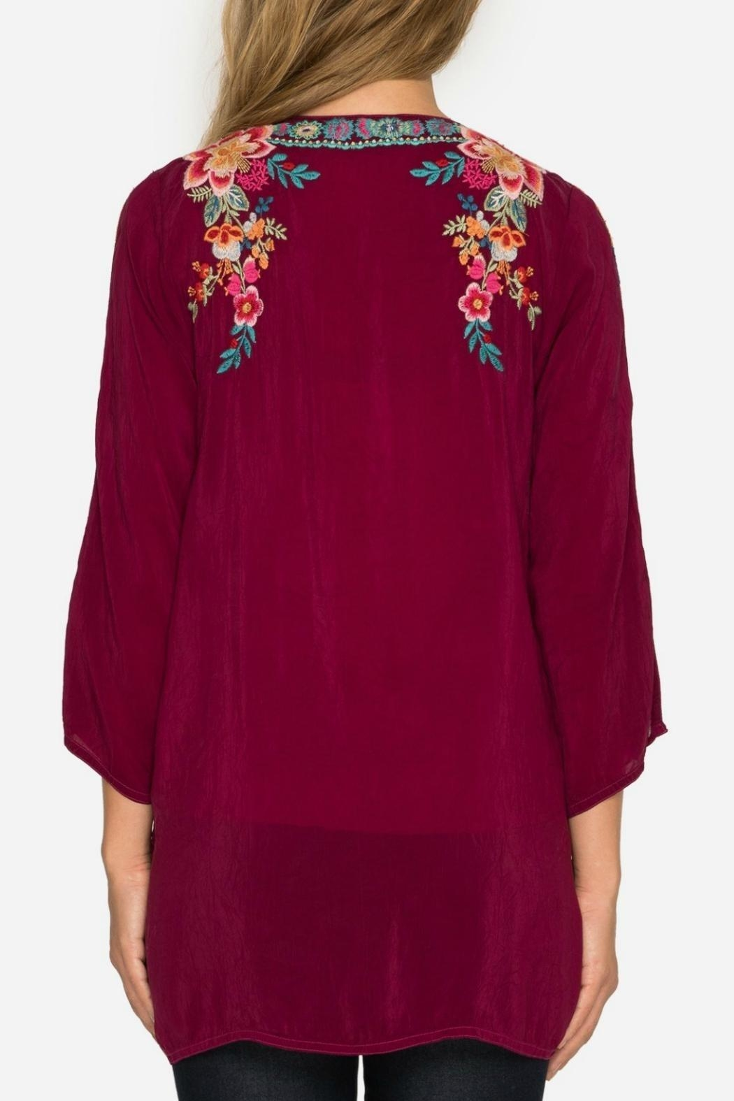 Johnny Was Rose Roma Tunic - Front Full Image