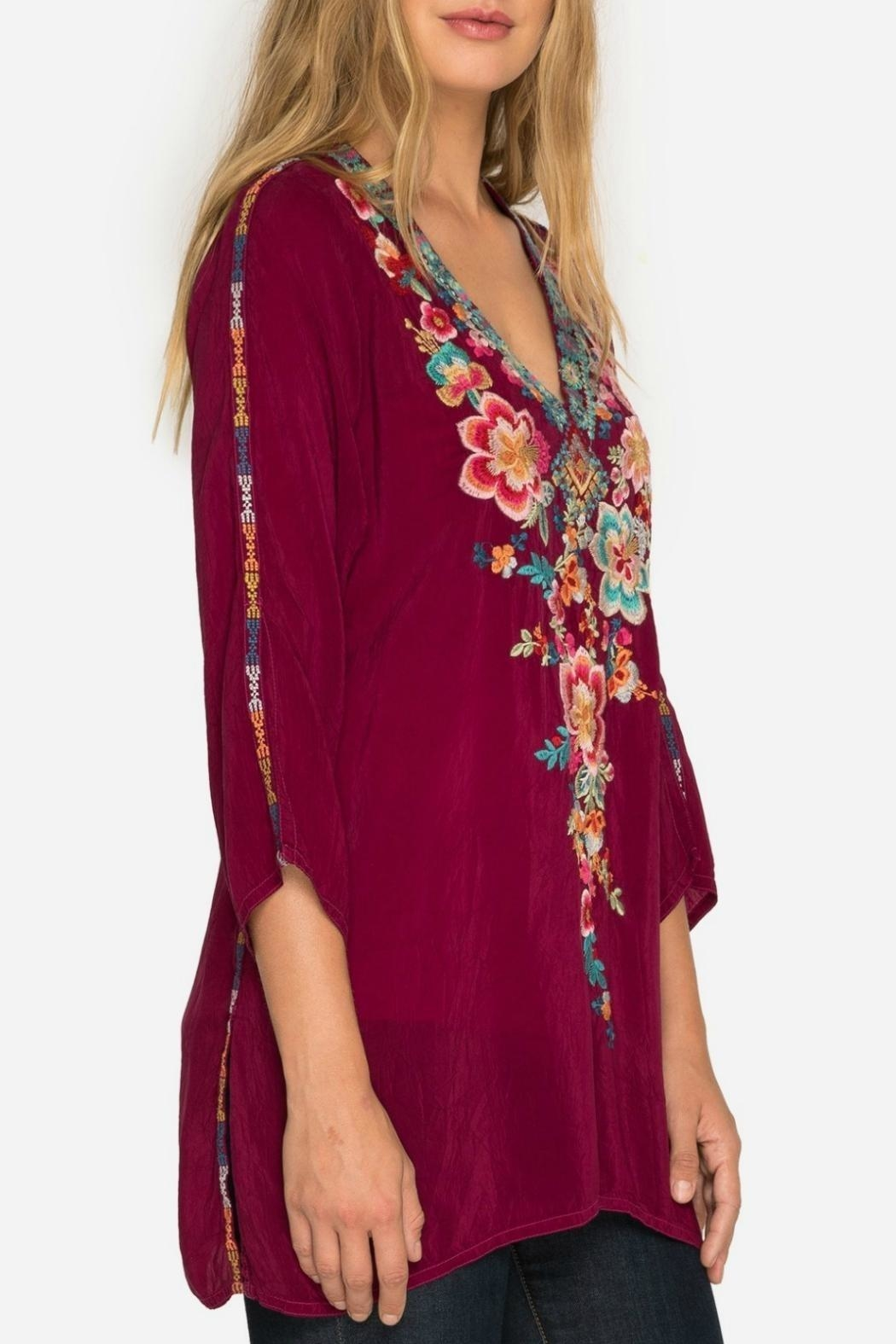 Johnny Was Rose Roma Tunic - Side Cropped Image