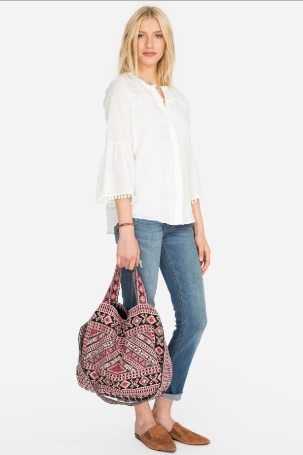 Johnny Was Sabriya Embroidered Tote - Front Full Image
