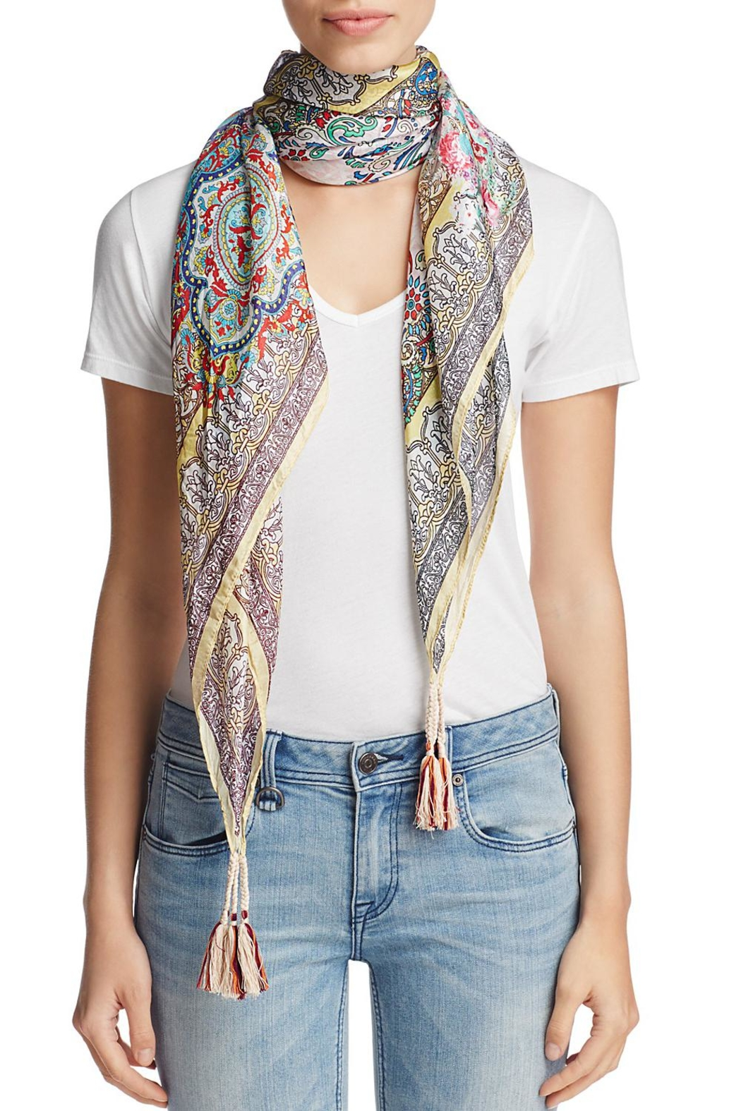 Johnny Was Silk Patterned Scarf - Main Image