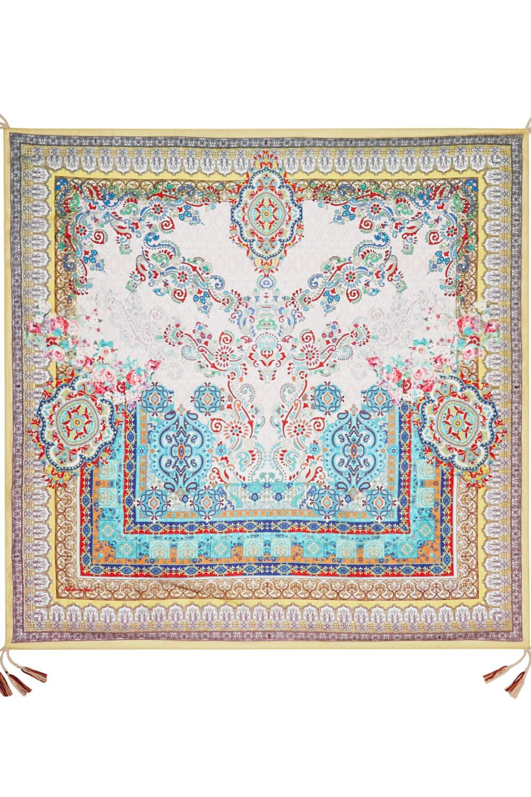 Johnny Was Silk Patterned Scarf - Front Full Image