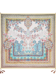 Johnny Was Silk Patterned Scarf - Front full body