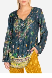 Johnny Was Silk Print Top - Front cropped