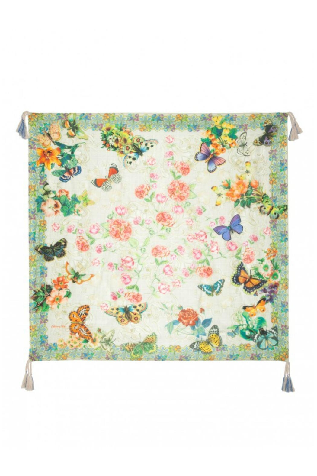 Johnny Was Silk Printed Scarf - Front Cropped Image