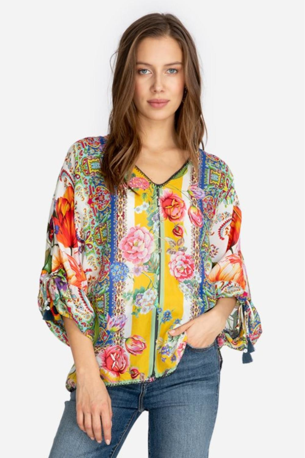Johnny Was Sorbet Floral Blouse - Main Image