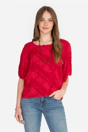 Johnny Was Tierra Scalloped Top - Front cropped