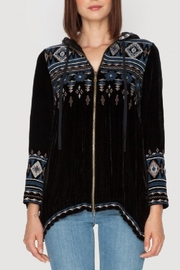 Johnny Was Tina Velvet Hoodie - Front cropped