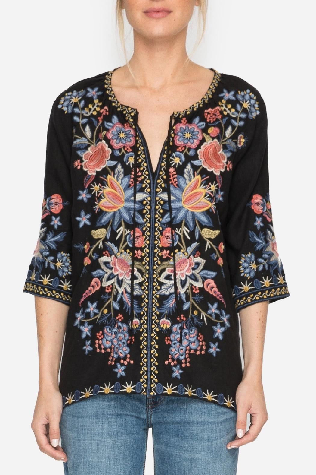 Johnny Was Tiwa Peasant Blouse - Front Cropped Image