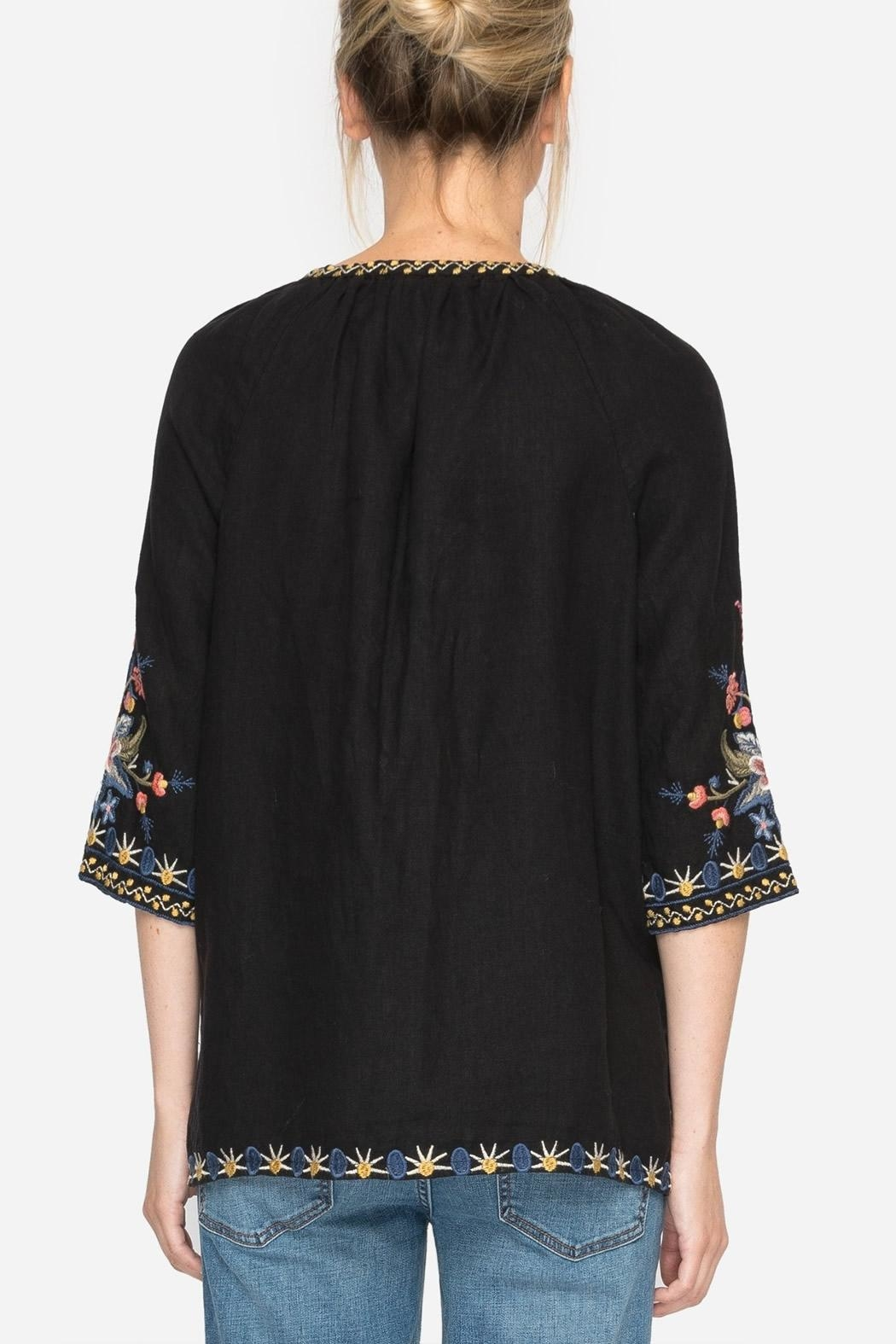 Johnny Was Tiwa Peasant Blouse - Back Cropped Image