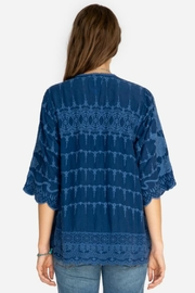 Johnny Was Tonal Embroidered Top - Side cropped