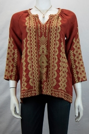 Johnny Was Tracy Peasant Blouse - Product Mini Image