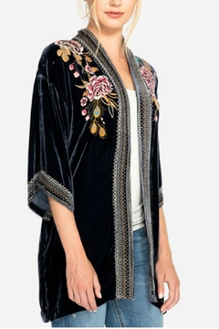 Johnny Was Velvet Embroidered Kimono - Alternate List Image